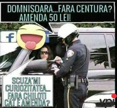 Amenda in trafic