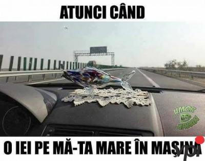 Cu mama in masina