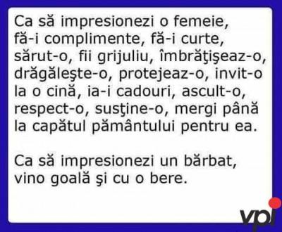 cum sa impresionezi o femeie!