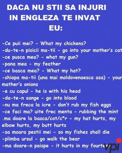 injuraturi in engleza
