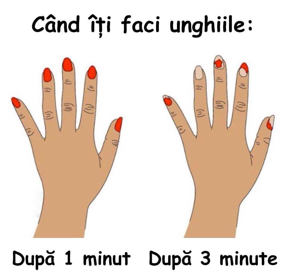 Cand iti faci unghiile