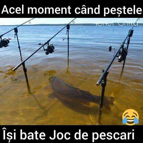 Cand pestele rade de pescari!