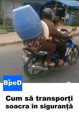 Cum transporti in siguranta?