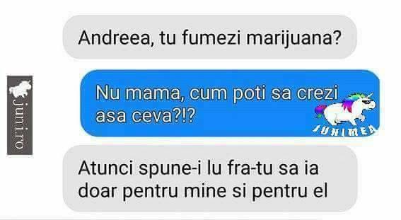 Fumezi marijuana?