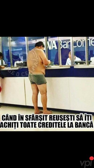 Cand achiti creditele la banca