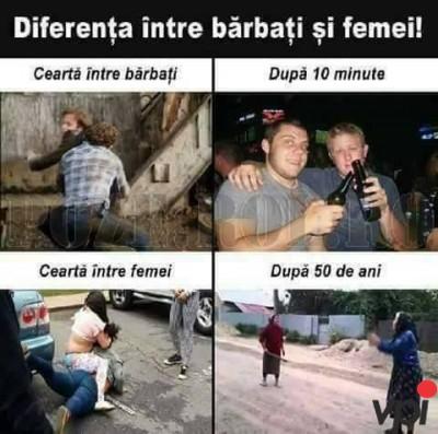 Diferenta dintre barbati si femei
