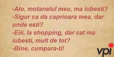 Femeia la shopping