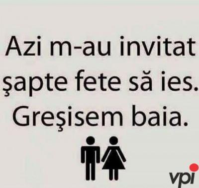 Invitatii de la fete