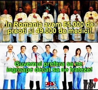 Mai multi preoti decat medici!