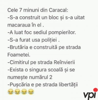 Minunile din Caracal