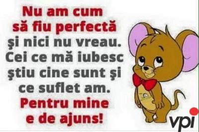 Nu sunt perfecta!
