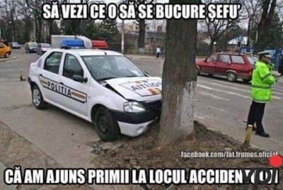 Primii la locul accidentului