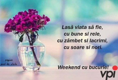 Weekend fericit