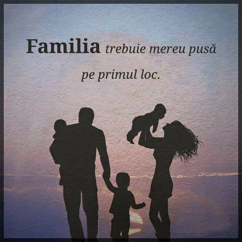 Familia este pe primul loc