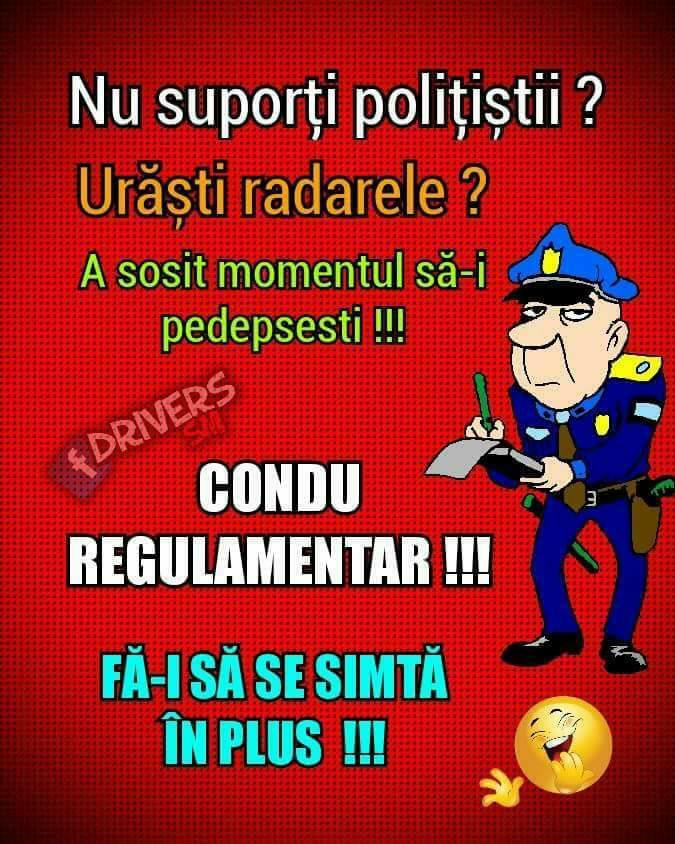 Nu suporti politistii?