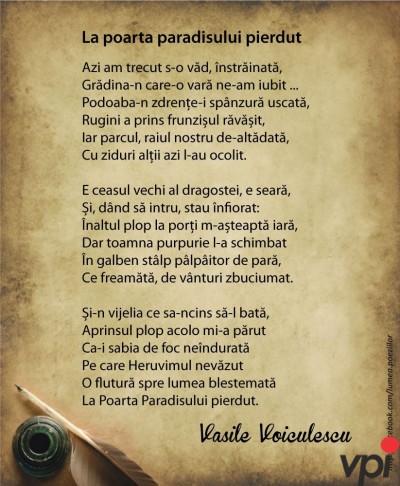 La poarta paradisului pierdut- Vasile Voiculescu