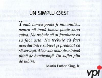 Un simplu gest