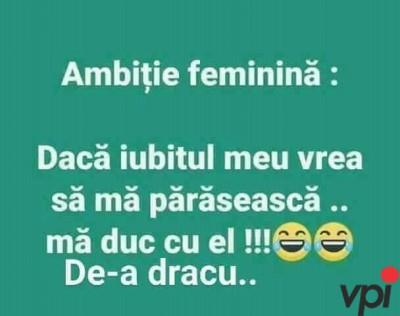 Ambitia femeilor