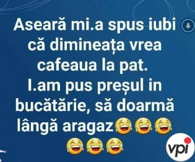 Cafeaua la pat