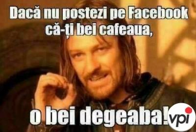 Cafeaua pe facebook