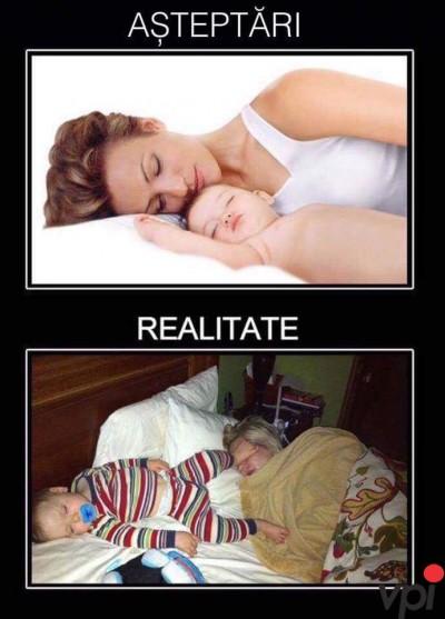 Cand dormi cu copilul