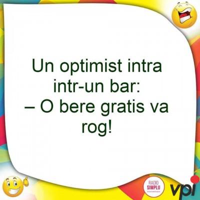 Cand esti optimist