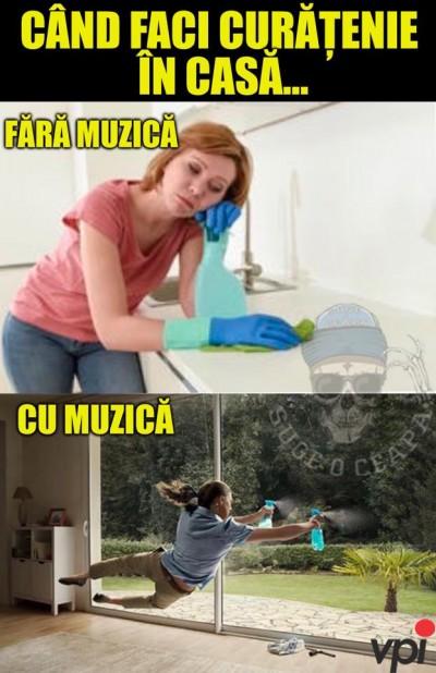 Cand faci curatenie in casa
