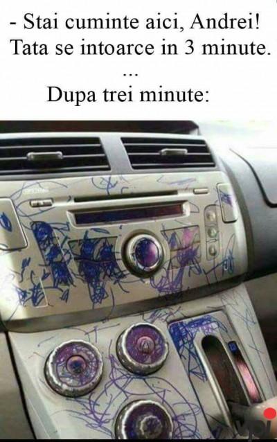Cand lasi copilul singur in masina