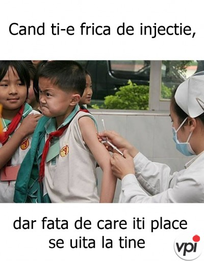 Cand ti-e frica de injectie