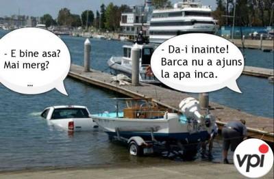 Cum bagi barca in apa