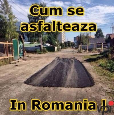 Cum se asfalteaza in Romania