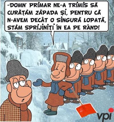 Cum se curata zapada in Romania