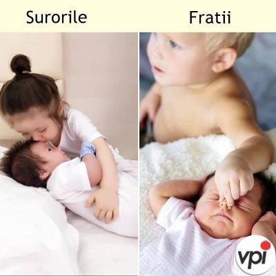 Cum sunt surorile si cum sunt fratii
