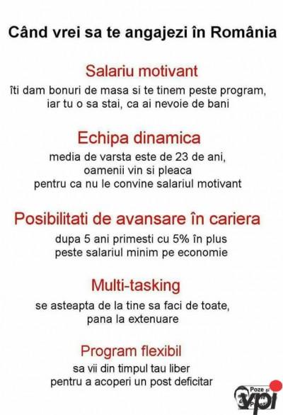 Cum te angajezi in Romania