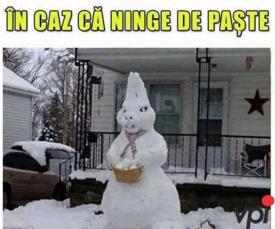 Daca ninge de Paste