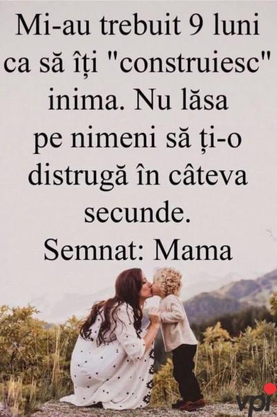 De la o mama pentru copilul ei!