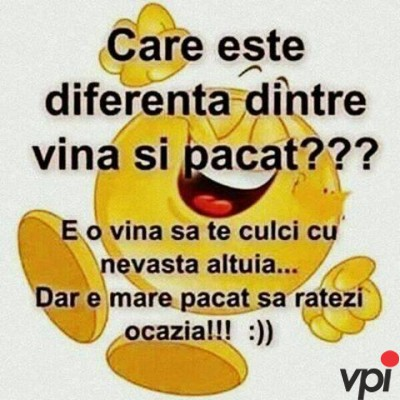 Diferenta dintre vina si pacat