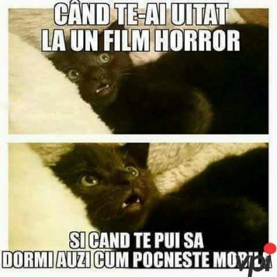 Dupa ce te uiti la filme horror