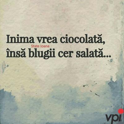Inima vrea ciocolată