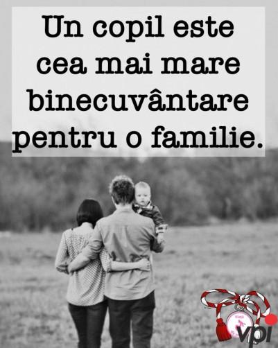 Copilul- binecuvântarea familiei