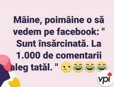 Insarcinata pe Facebook