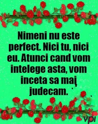 Nimeni nu este perfect!