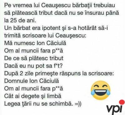 Pe vremea lui Ceausescu