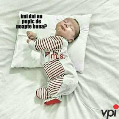 Pupic inainte de somn!