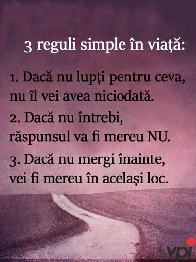 Reguli simple in viata