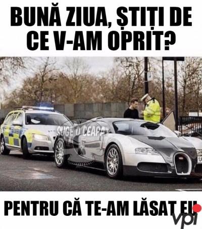Tras pe dreapta de Politie