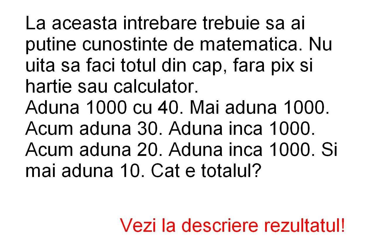 Verifica daca stii matematica!