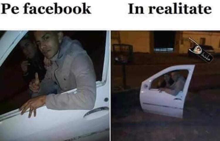 Diferenta dintre Facebook si Realitate