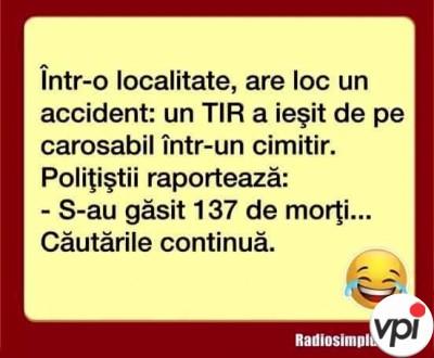 Accident cu TIR-ul
