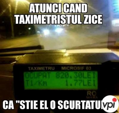 Cand te plimbi cu Taxi-ul